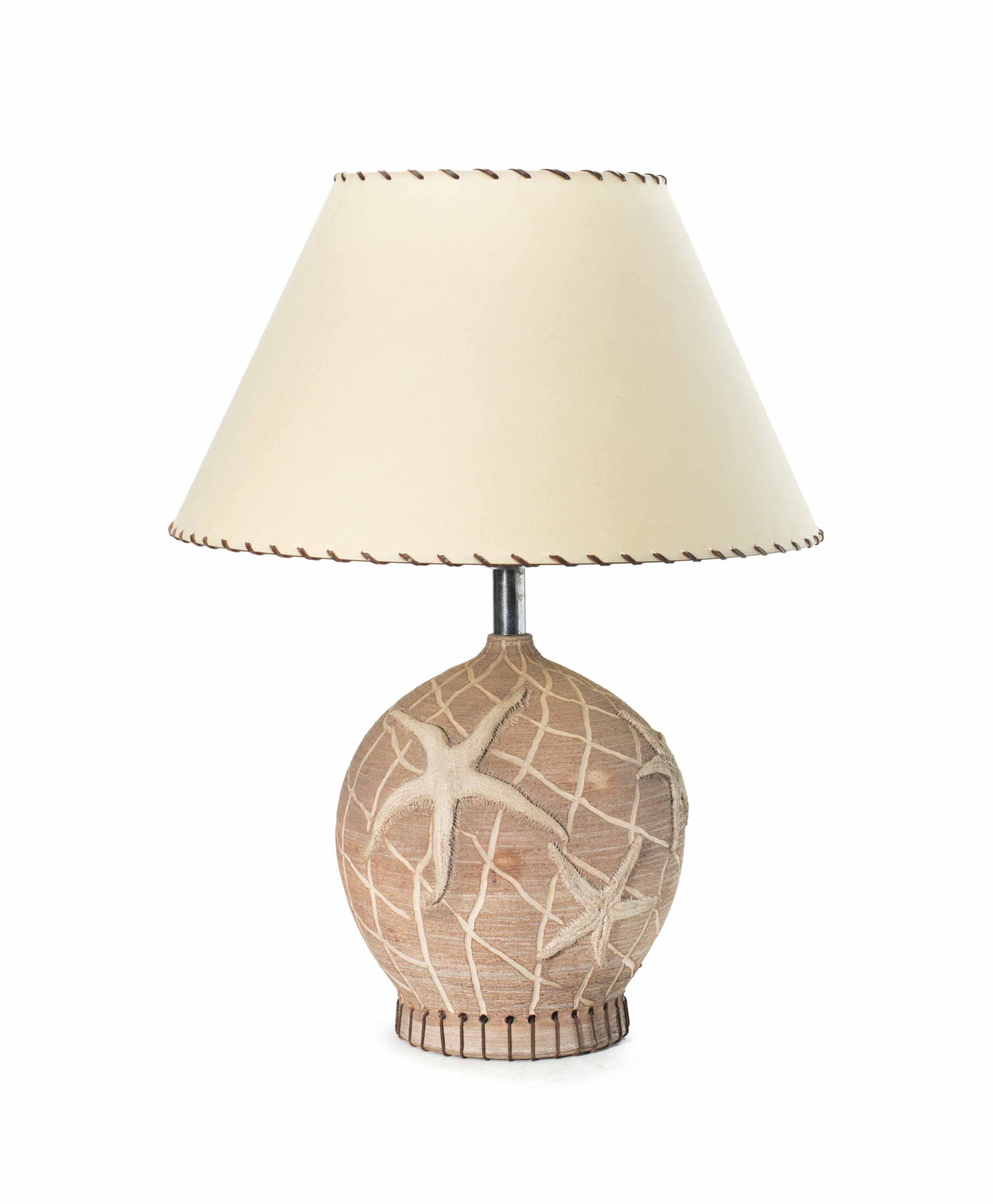 A FRENCH CERAMIC TABLE LAMP