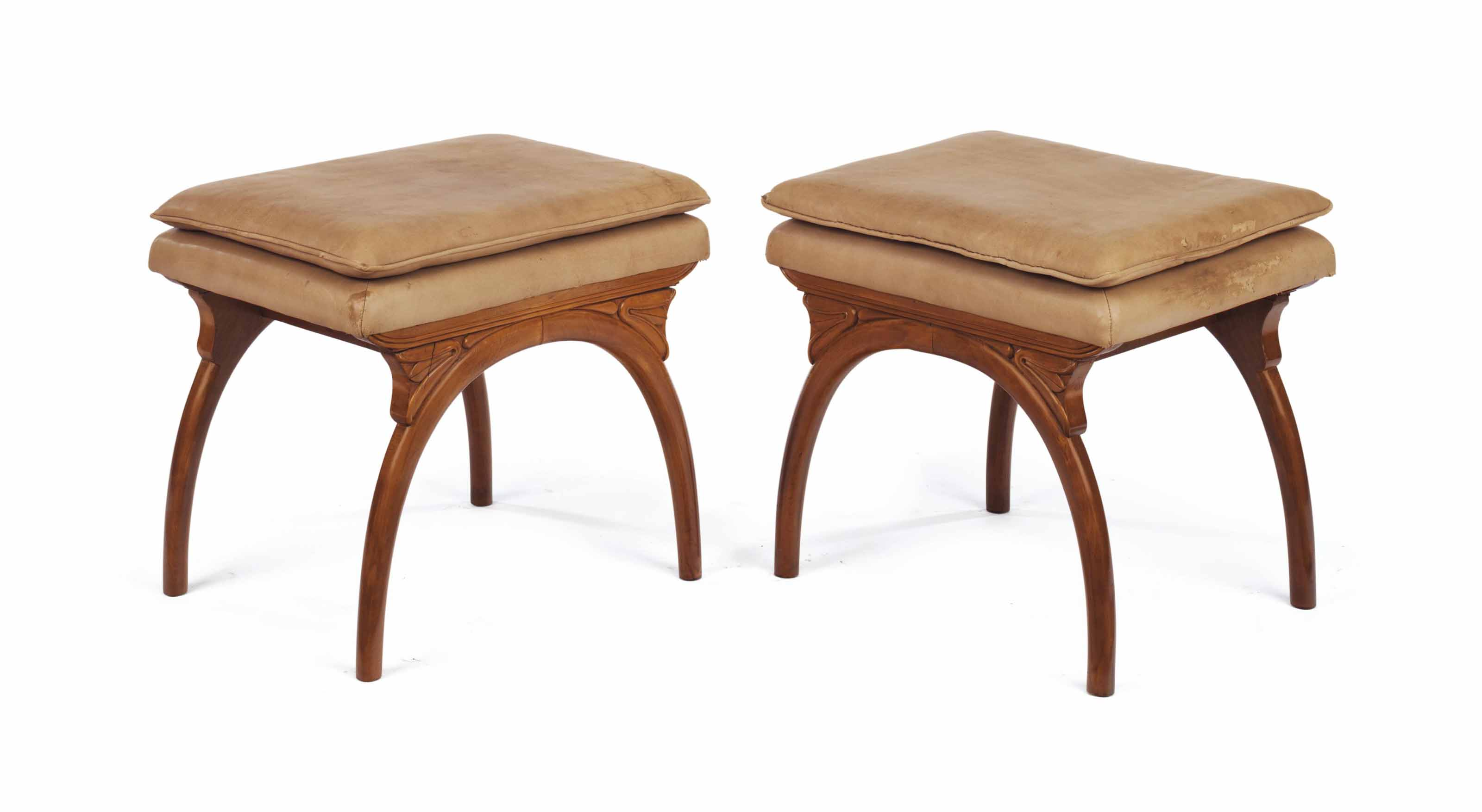 A PAIR OF FRENCH BEECHWOOD TAB