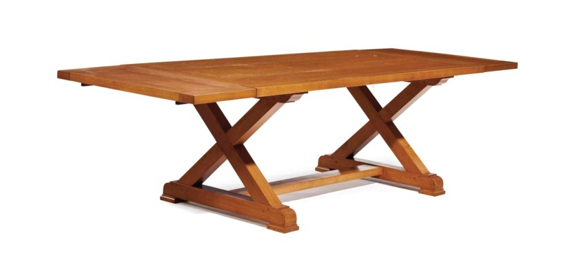 A FRENCH OAK DINING TABLE