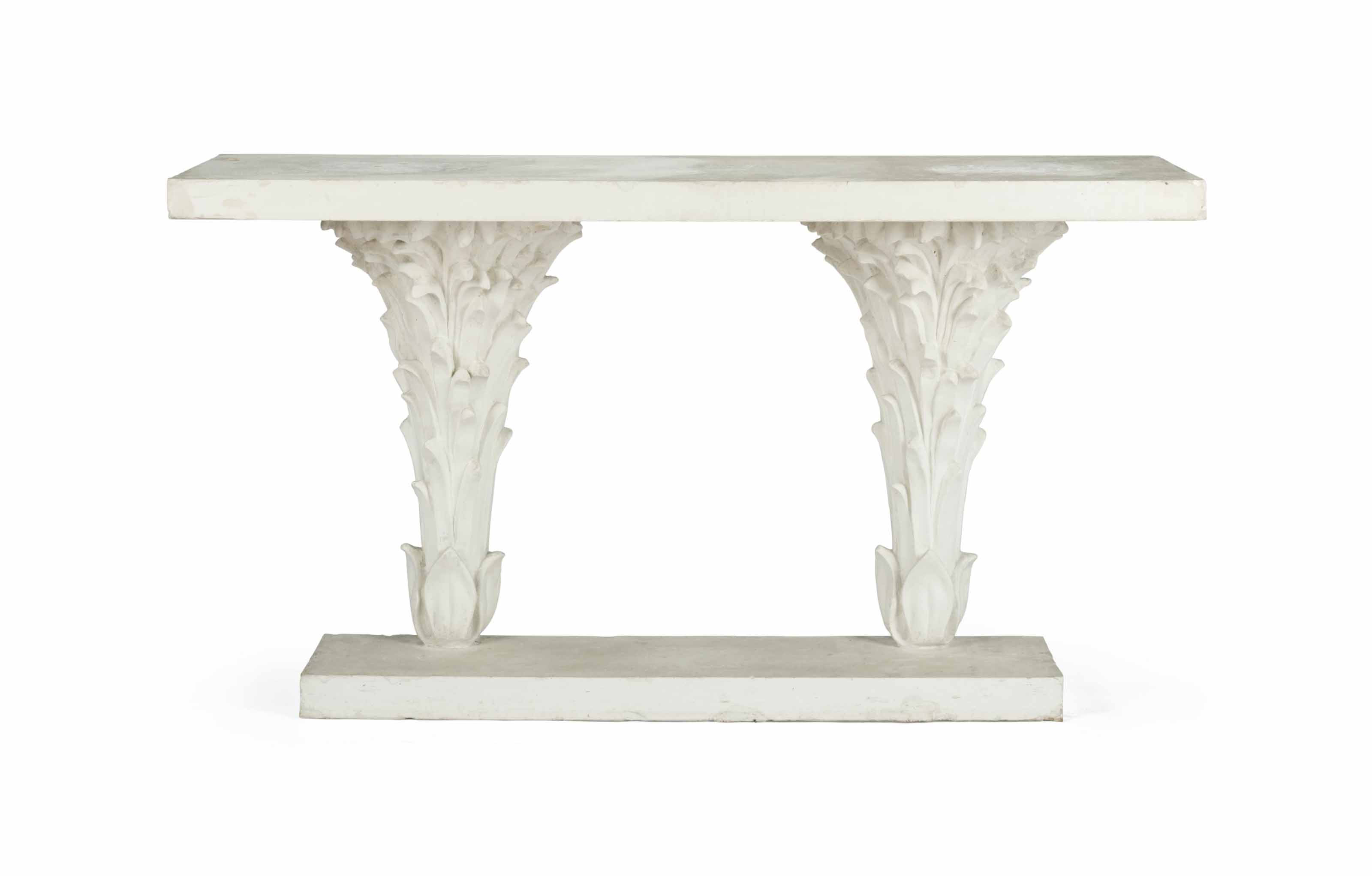A FRENCH PLASTER CONSOLE