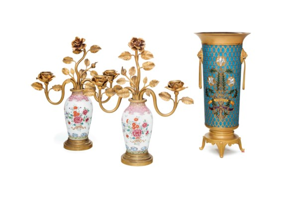 A FRENCH ORMOLU MOUNTED CLOISO