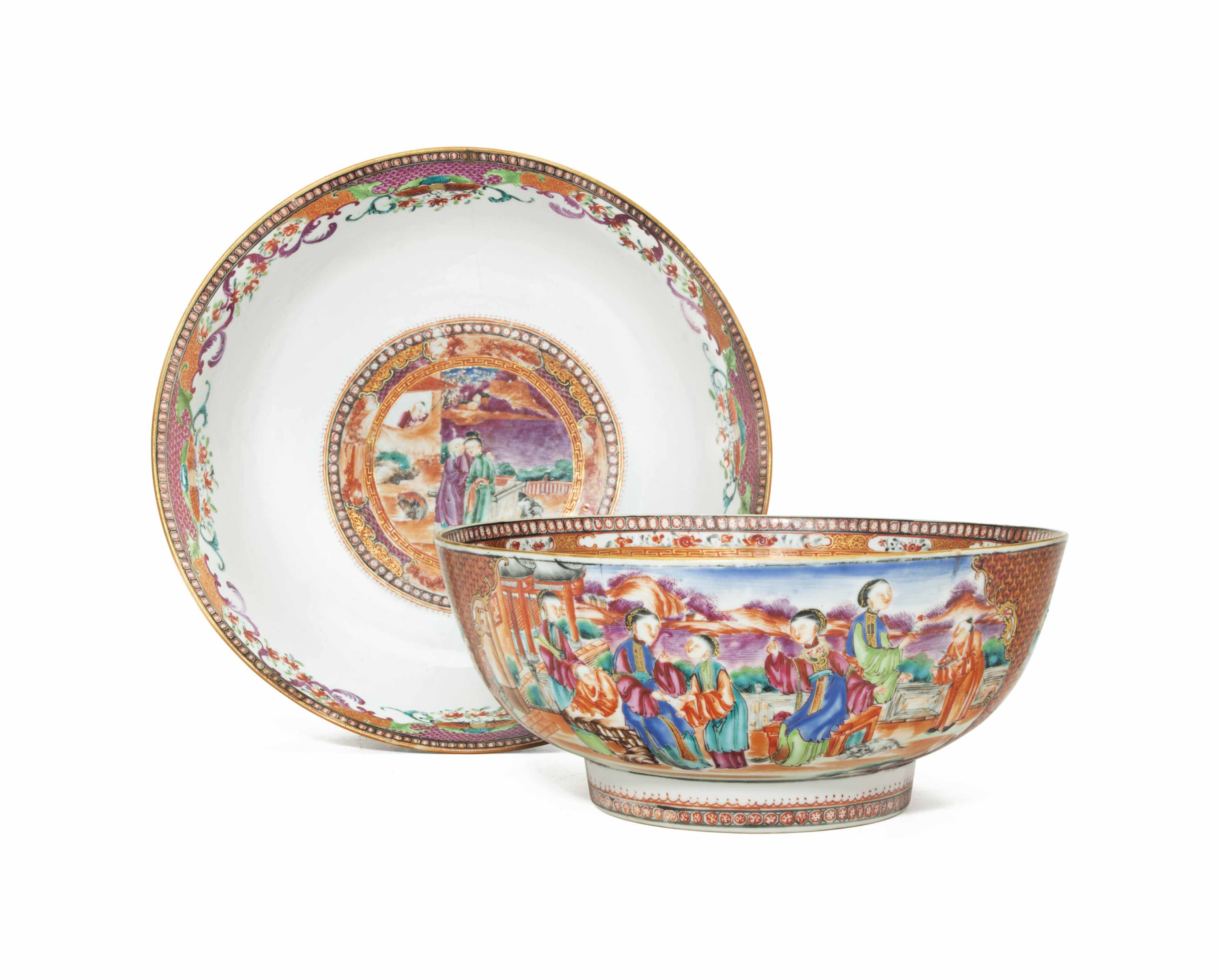 TWO CHINESE EXPORT PORCELAIN P