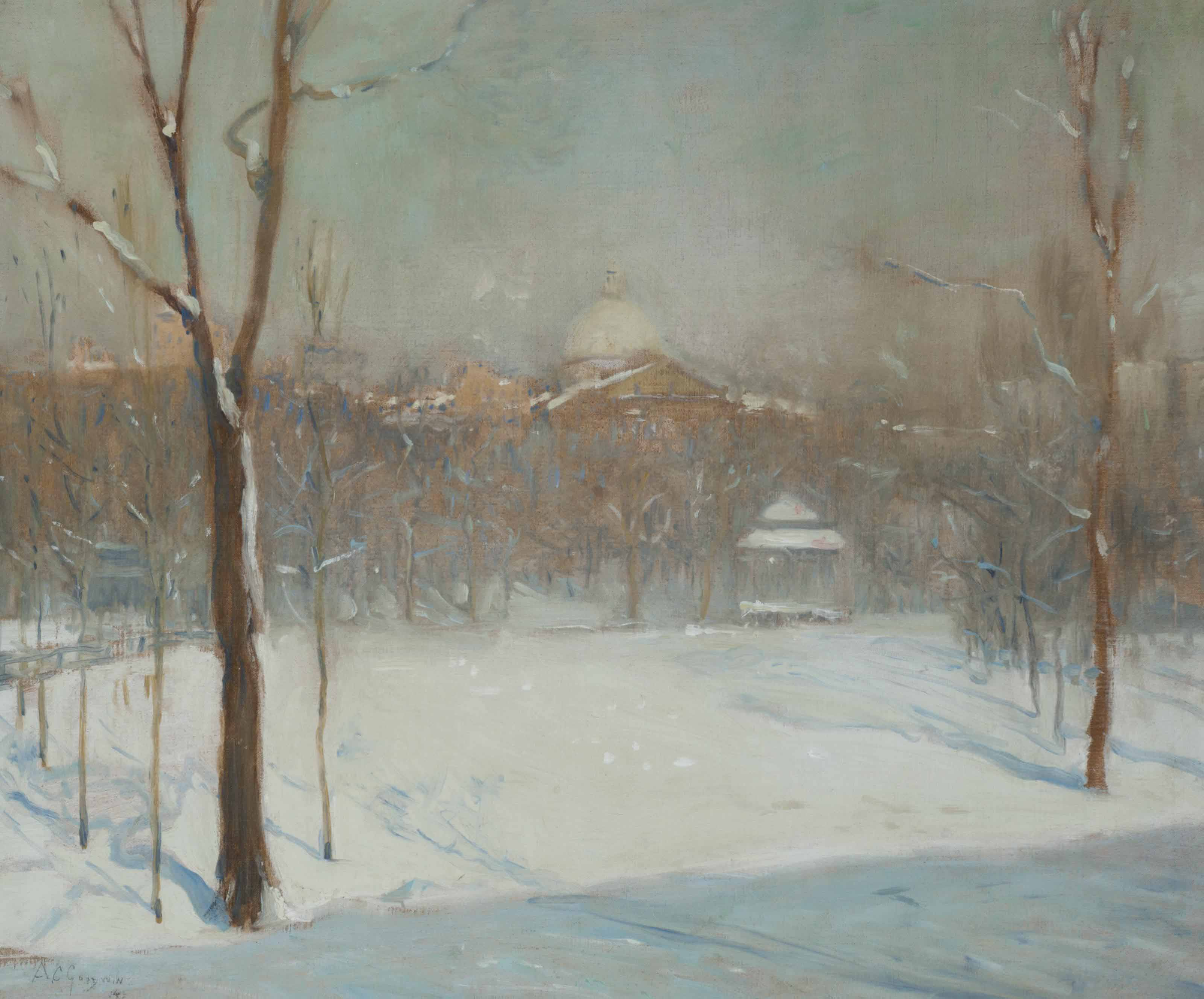 Snow on Boston Commons