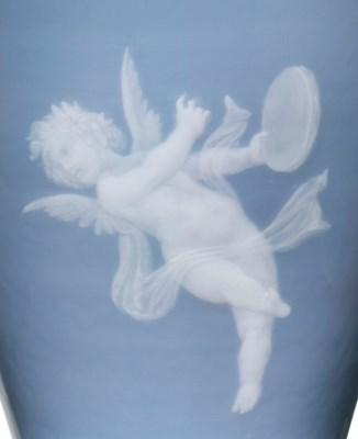 A MEISSEN PORCELAIN PALE-BLUE