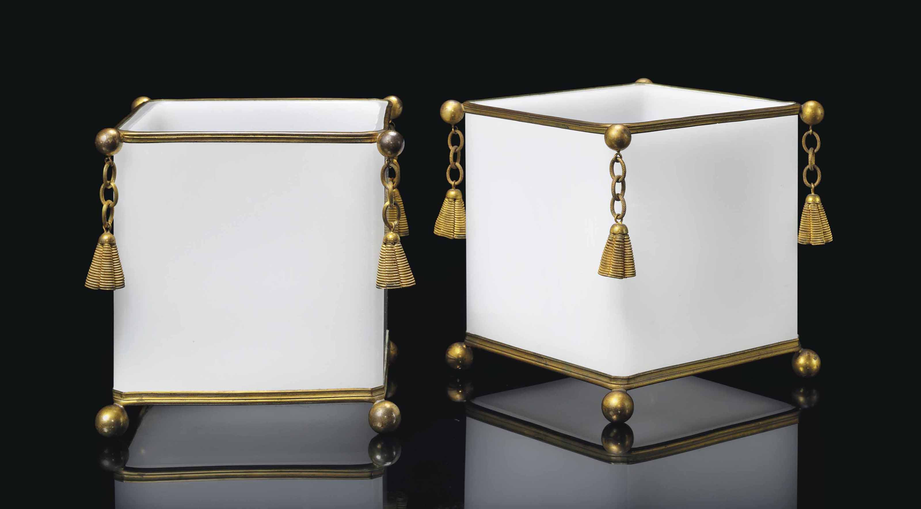 A PAIR OF ORMOLU-MOUNTED BACCA