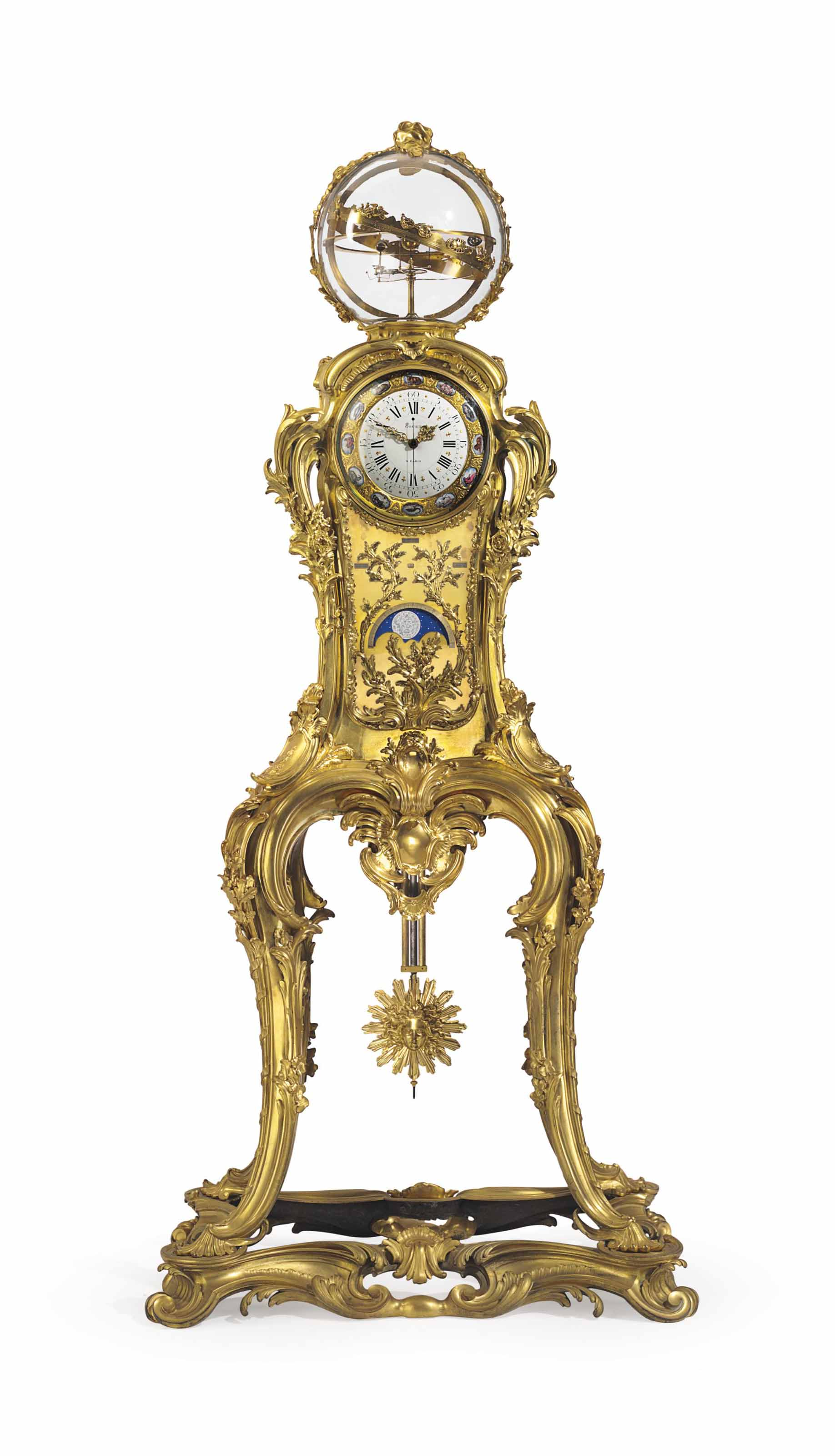 AN IMPORTANT FRENCH ORMOLU ASTRONOMICAL CLOCK