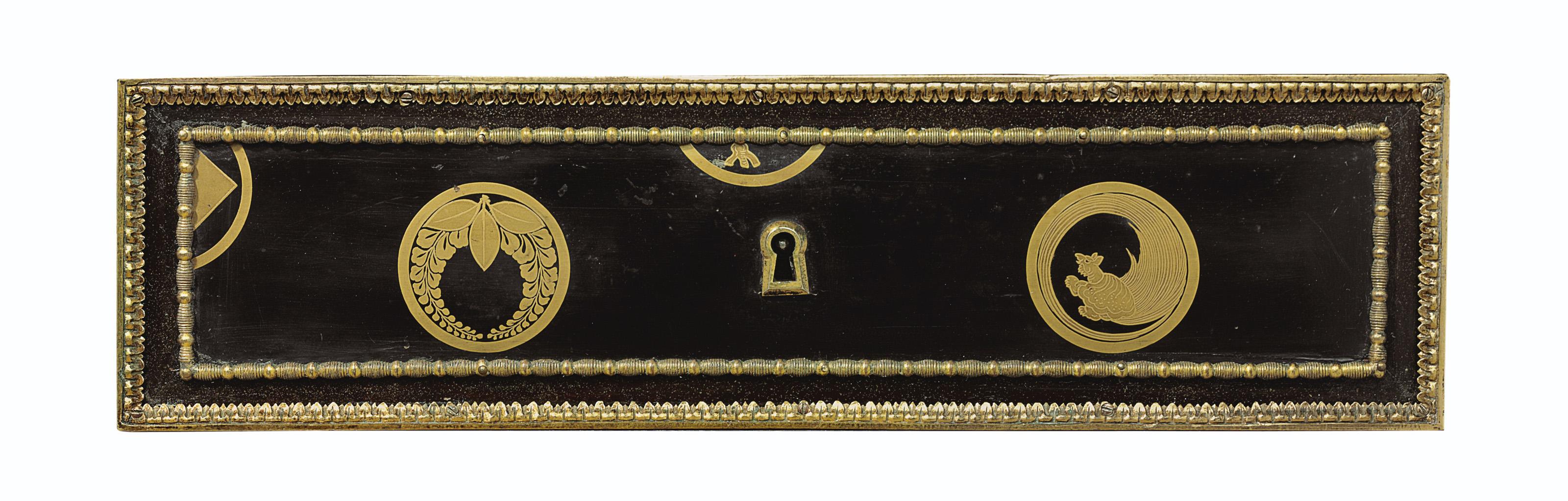 A LOUIS XVI ORMOLU-MOUNTED EBO