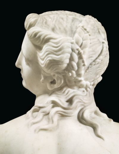 A MARBLE FIGURE OF ANDROMEDA