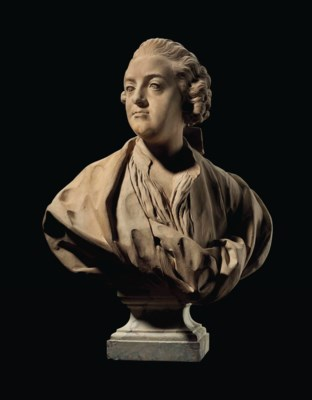 A TERRACOTTA BUST OF CLAUDE AD