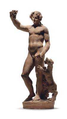 A TERRACOTTA FIGURE OF BACCHUS