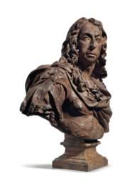 A TERRACOTTA BUST OF LOUIS II