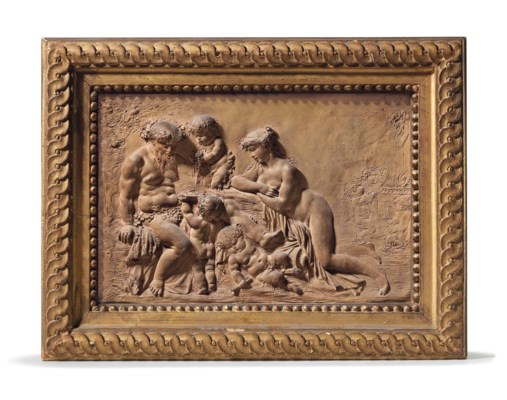 A TERRACOTTA RELIEF OF SILENUS