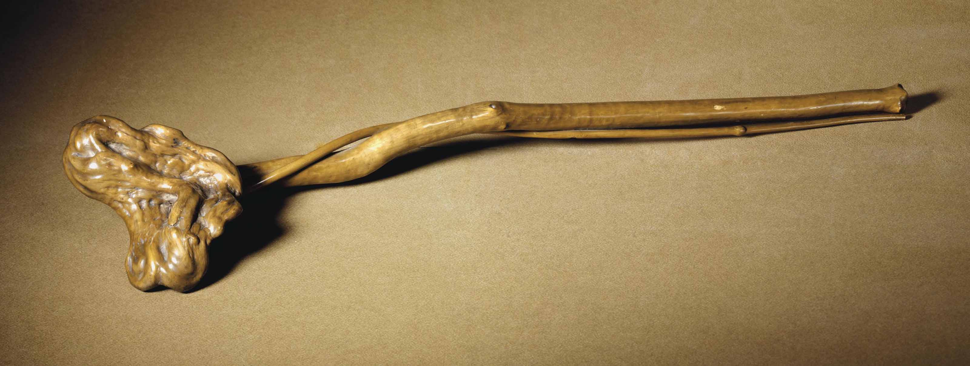 A ROOTWOOD RUYI SCEPTER