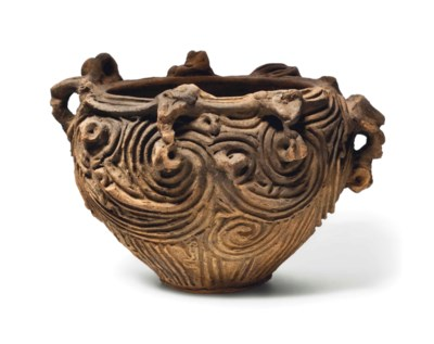 An earthenware vessel with scu