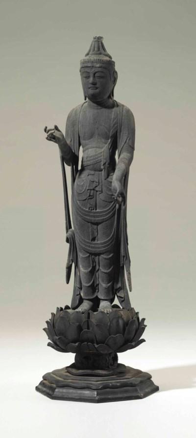 A wood figure of Gakko Bosatsu