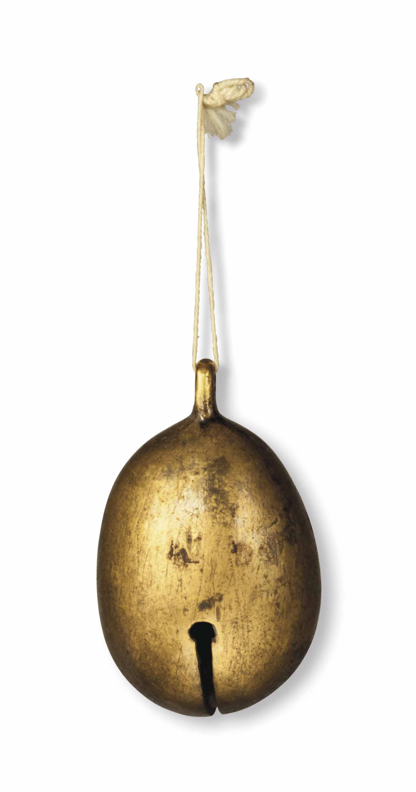 A small gilt-bronze bell