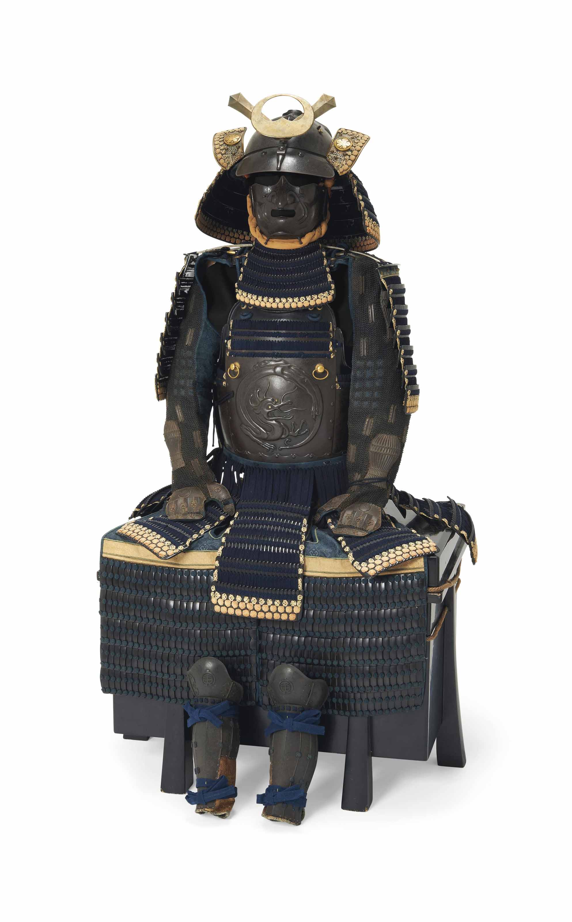 A blue-laced Nimaido gusoku (armor)