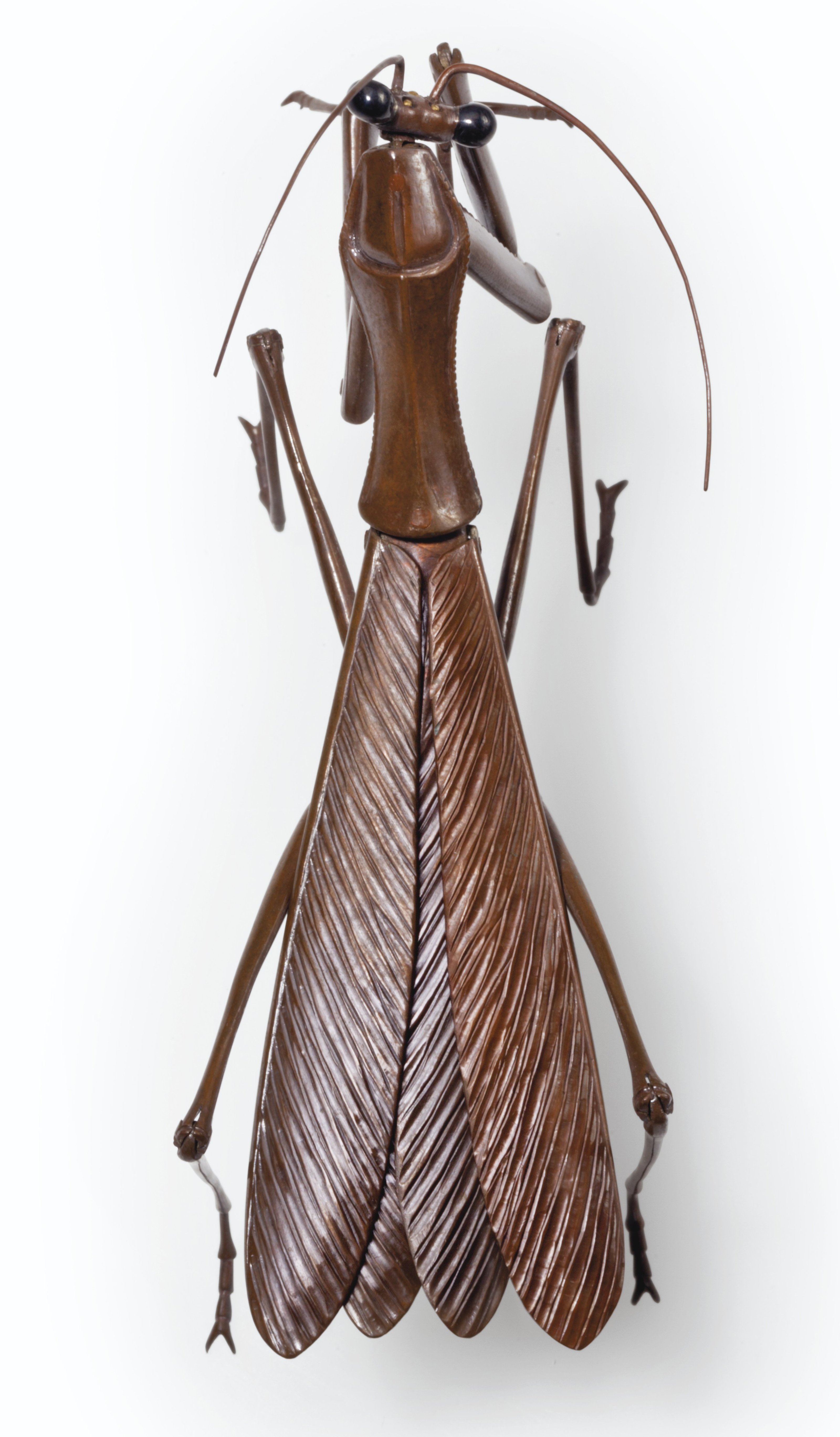 A set of ten articulated soft-metal insects