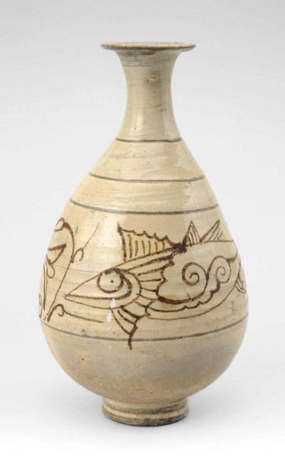 A Punch'ong bottle vase