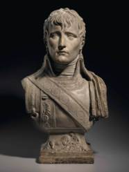 A TINTED PLASTER BUST OF NAPOL