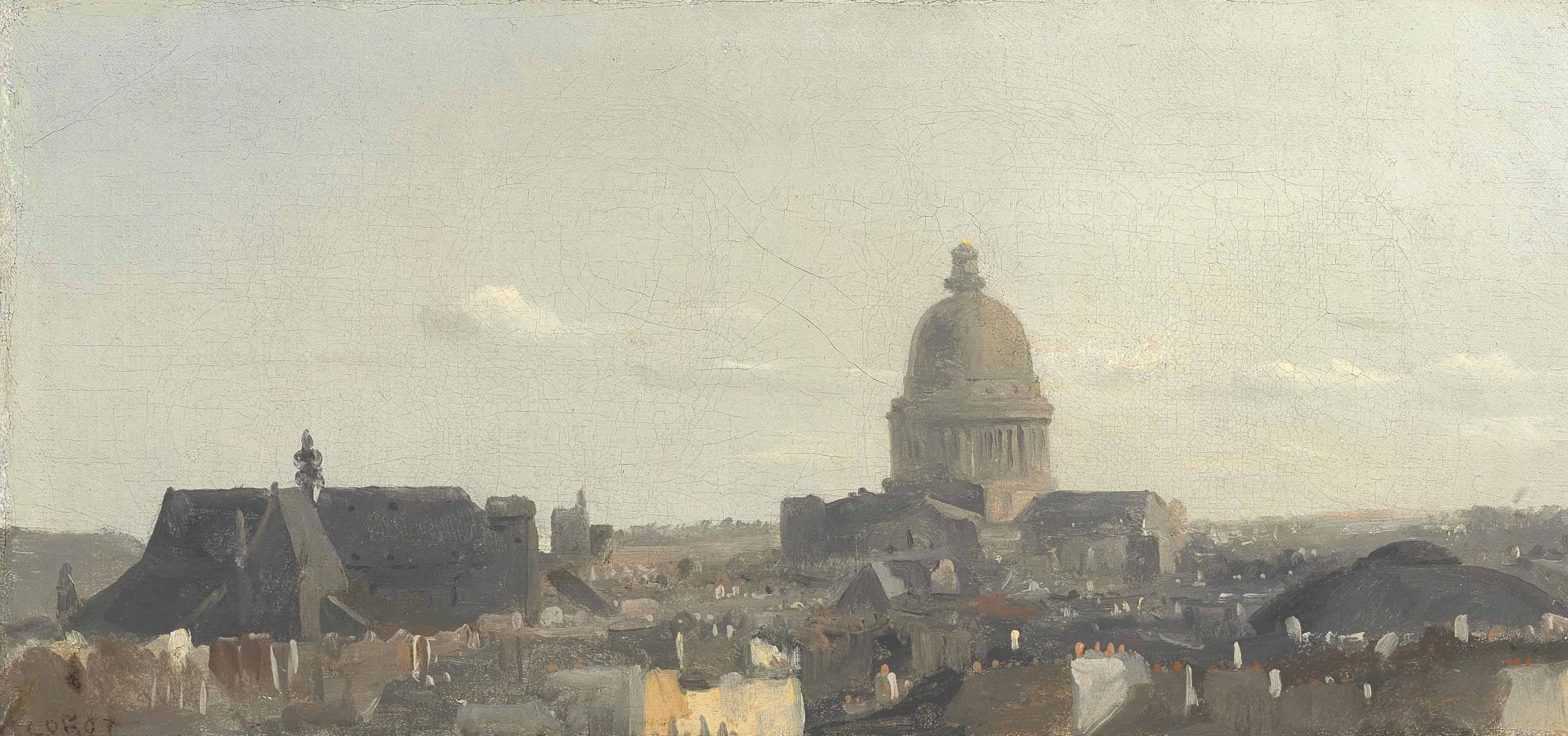Vue du Panthéon à Paris ('View of the Pantheon, Paris')