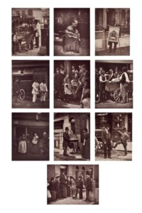 Selected images from 'Street Life in London', c. 1877
