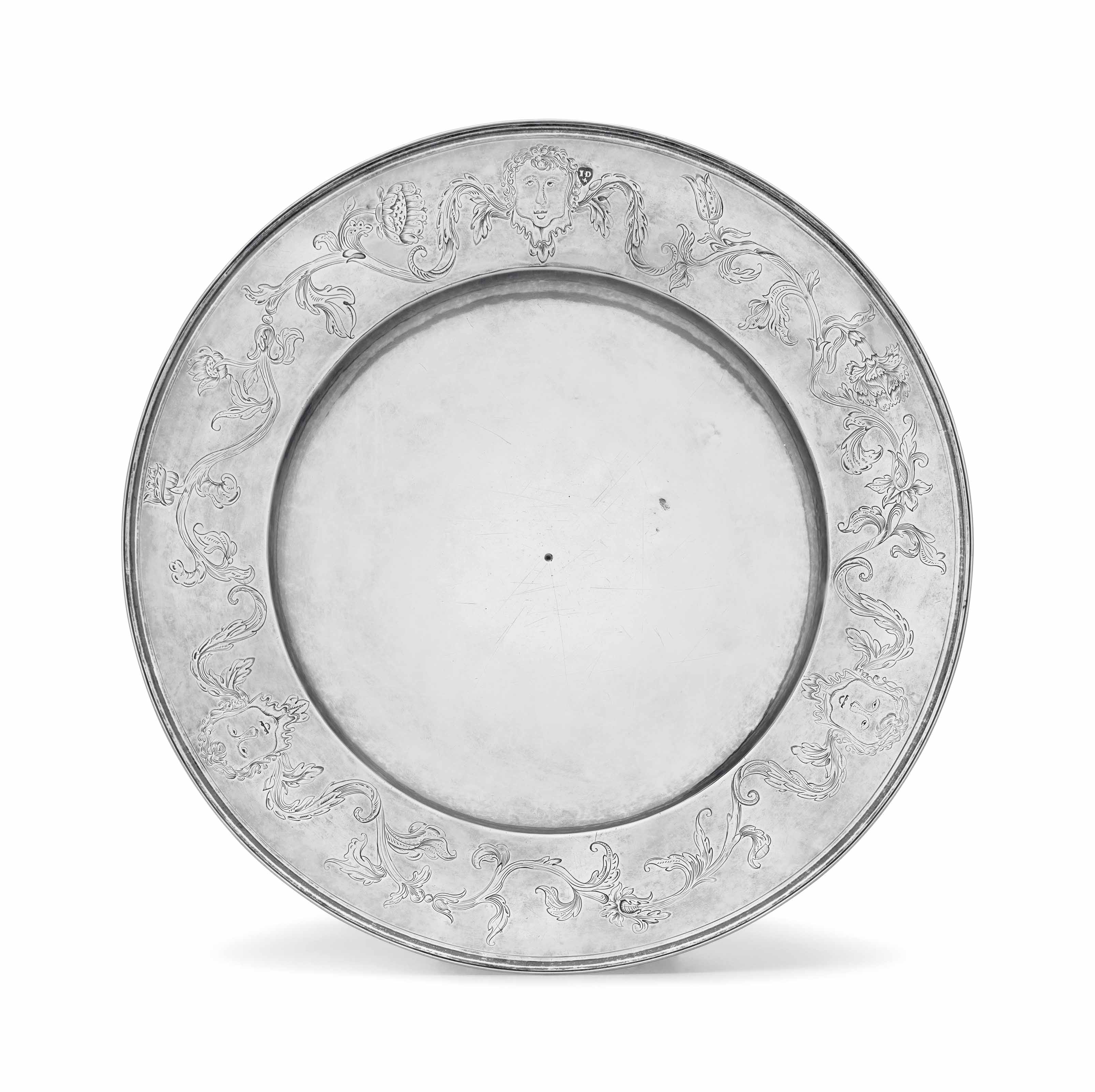 THE DIAMOND-NEWMARCH-MUGRIDGE PLATTER: A HIGHLY IMPORTANT ENGRAVED SILVER SERVING PLATE