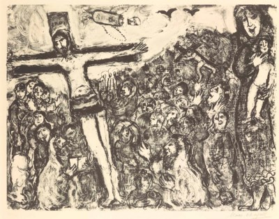 MARC CHAGALL (1887-1985) , Crucifixion | Christie's Chagall Crucifixion