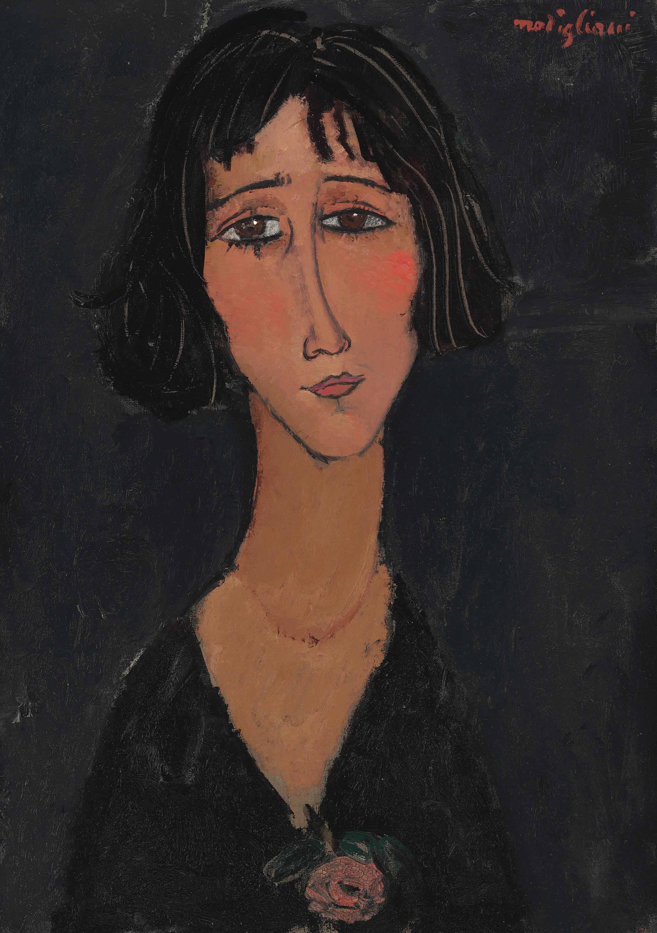 Jeune femme à la rose (Margherita)