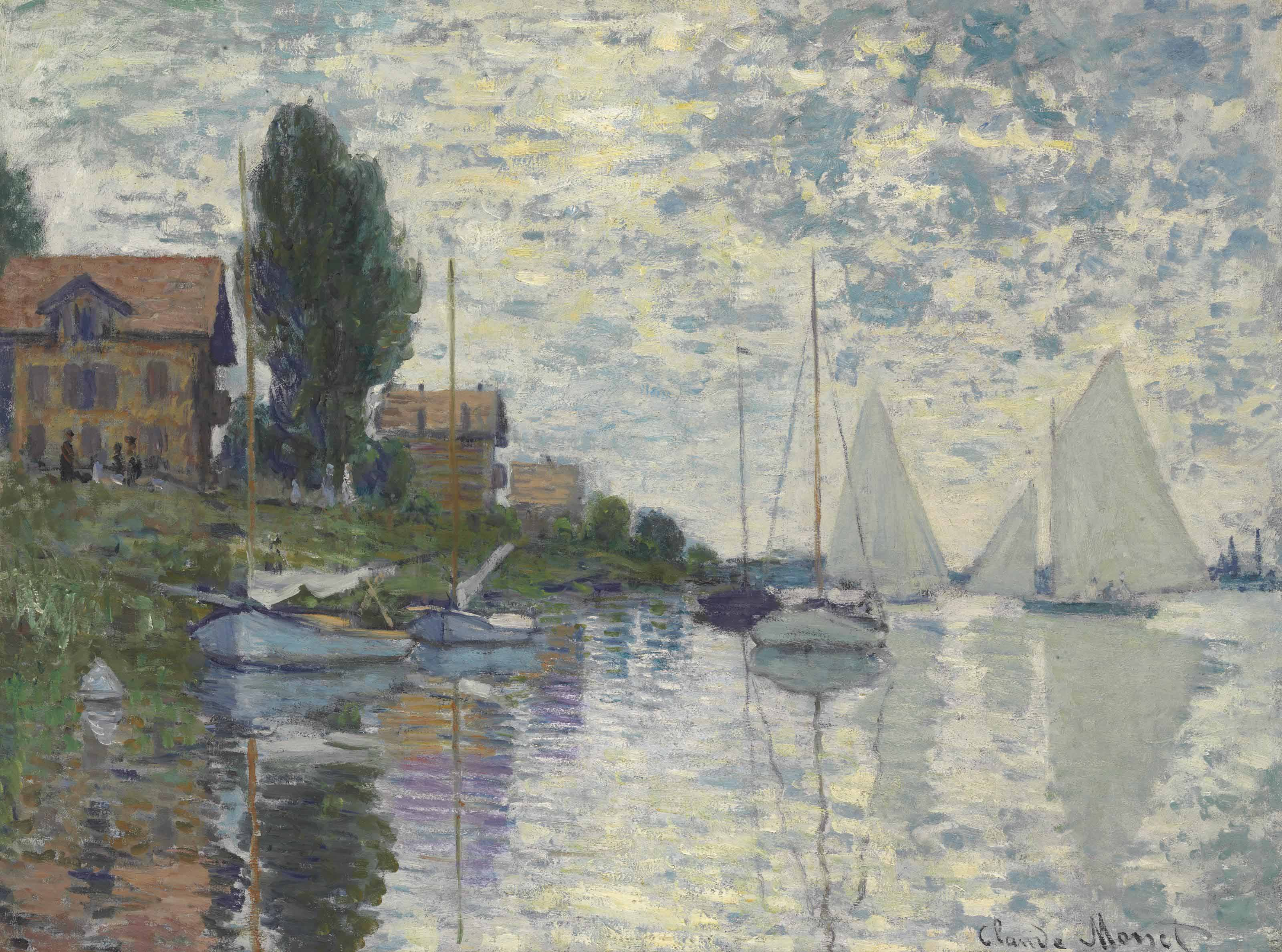 Claude Monet (1840-1926) | Au Petit-Gennevilliers | 19th Century, Paintings  | Christie's