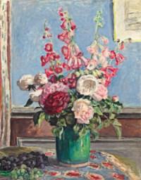 Bouquet de roses et digitales