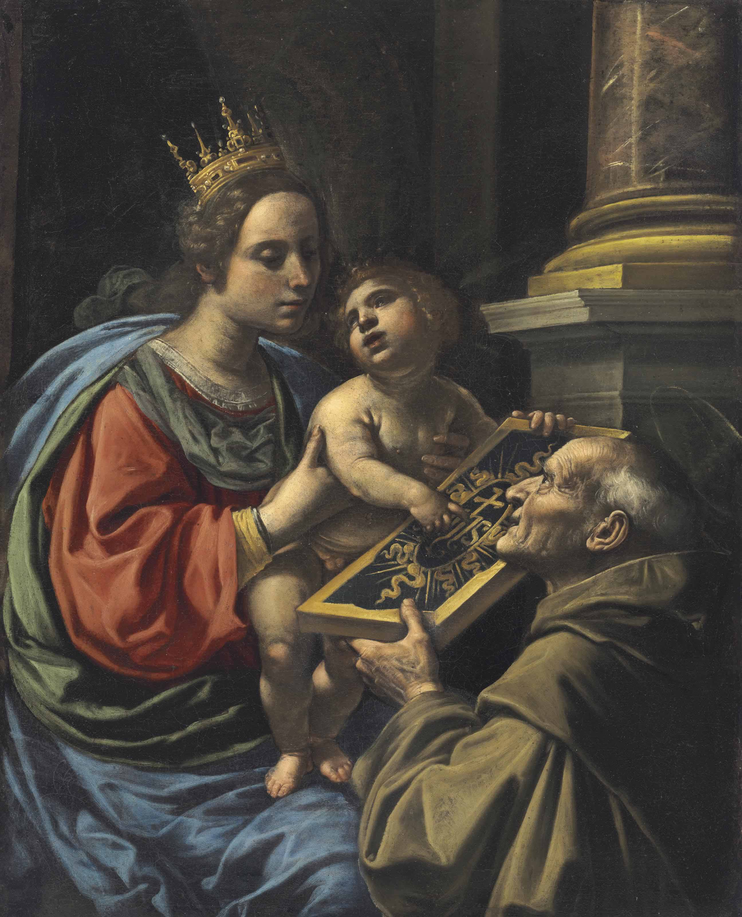 The Madonna and Child with San Bernardino