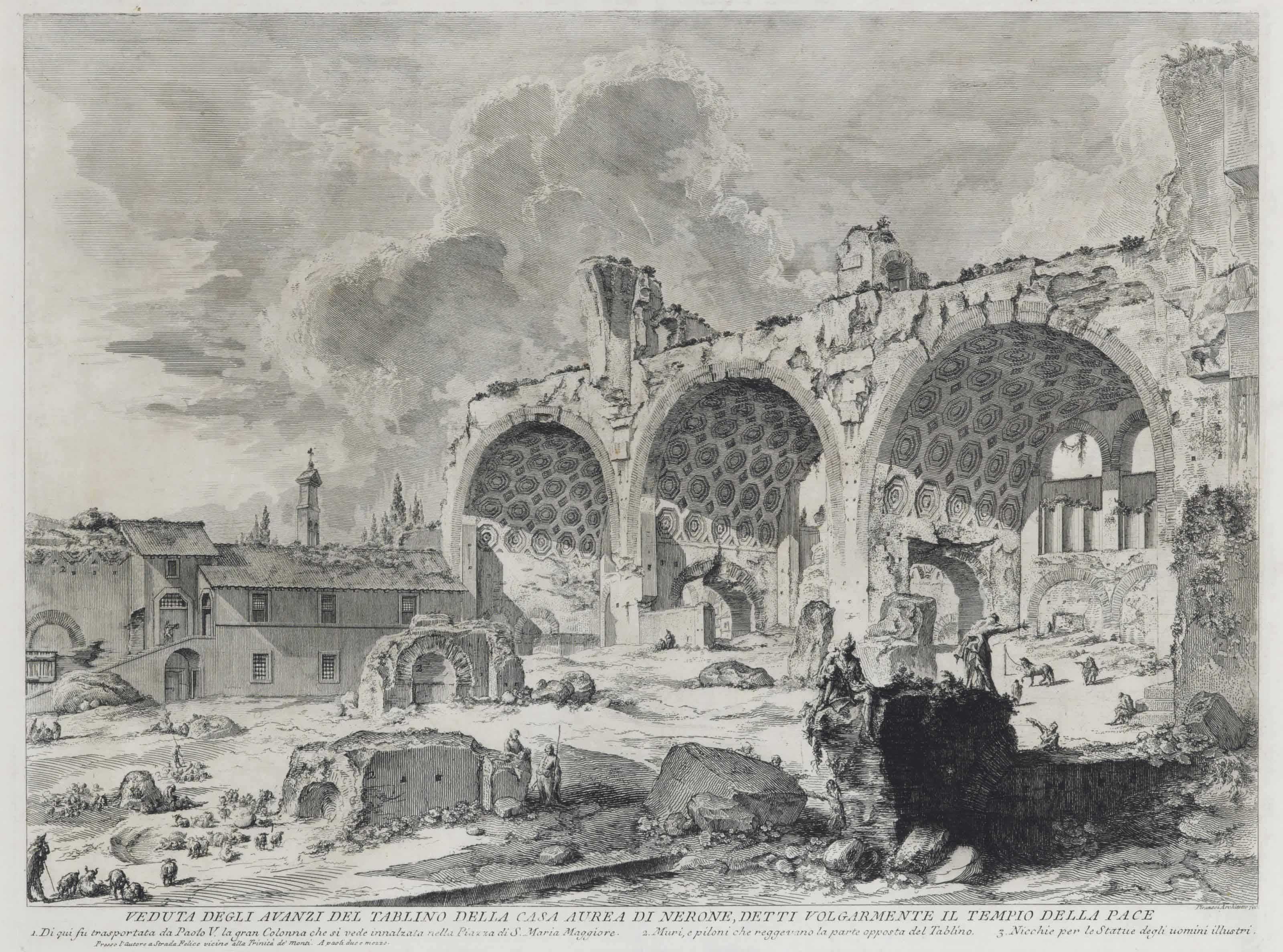 Giovanni battista piranesi 1720 1778 veduta degli for Planimetrie della casa degli artigiani