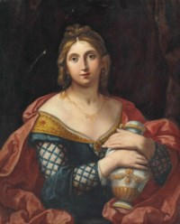 Portrait of a lady, half-length, as Pandora or Artemisia