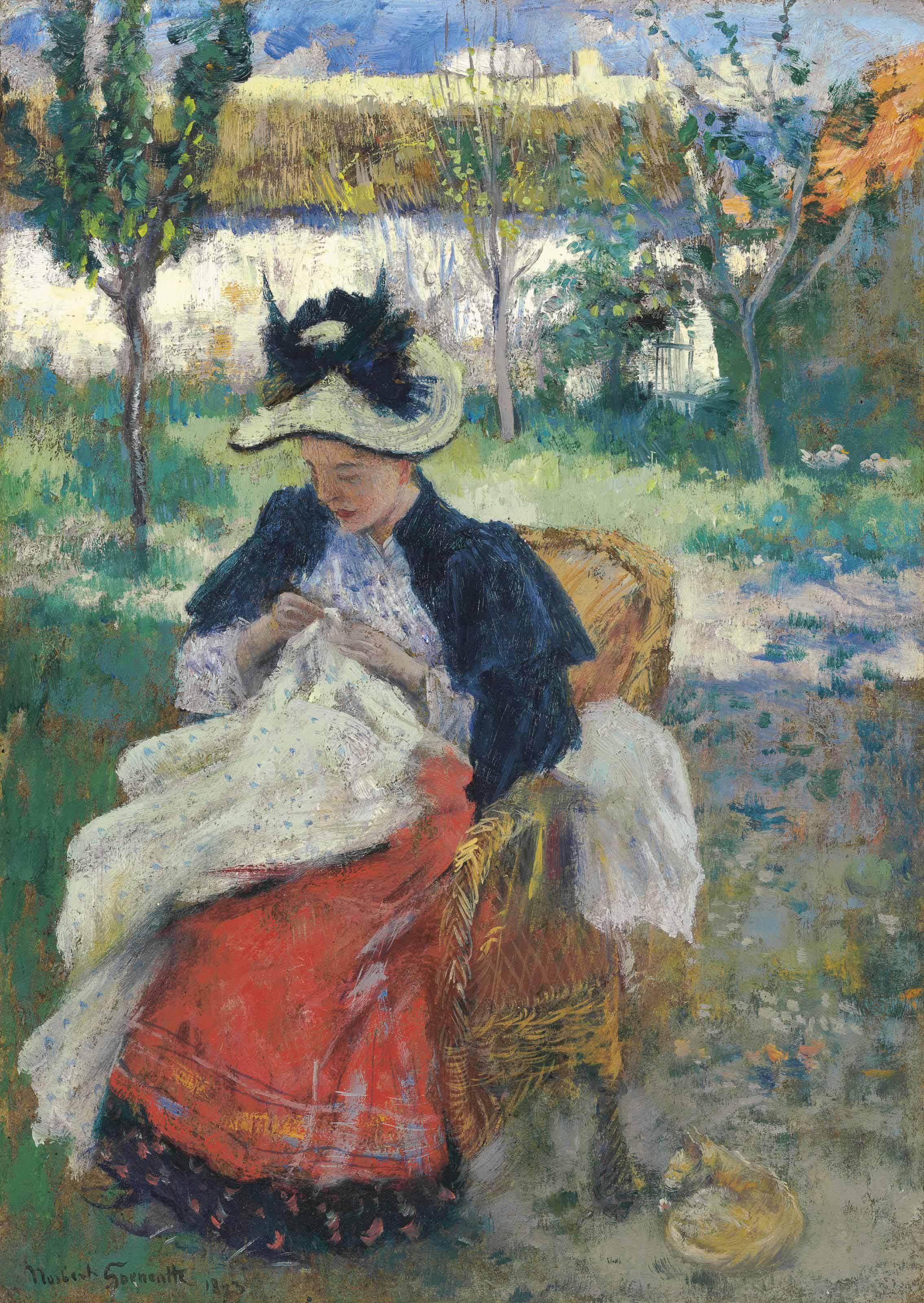 Jeune femme à sa couture
