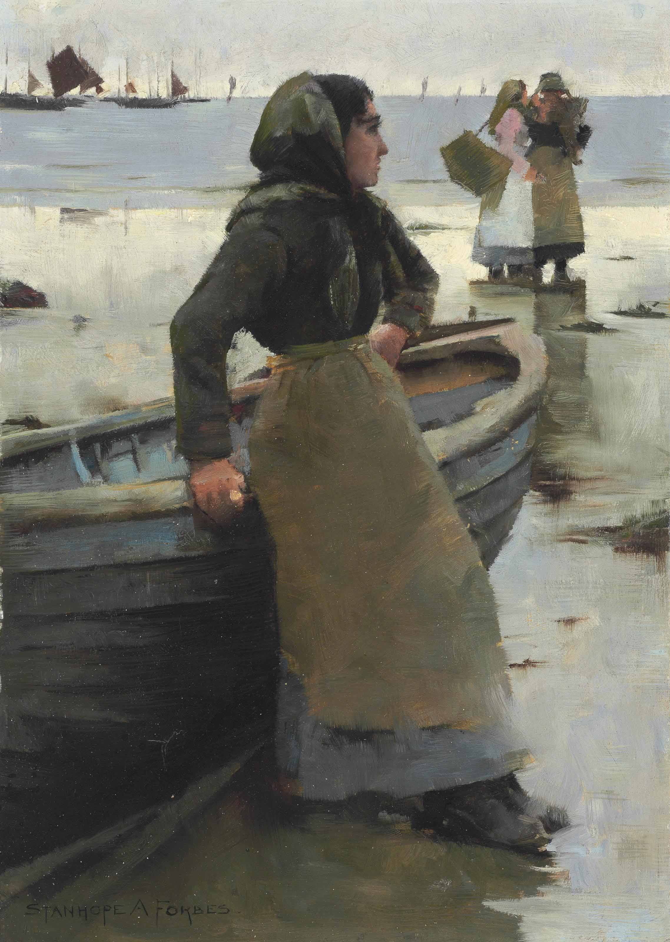 Study for The Fish Seller on a Cornish Beach