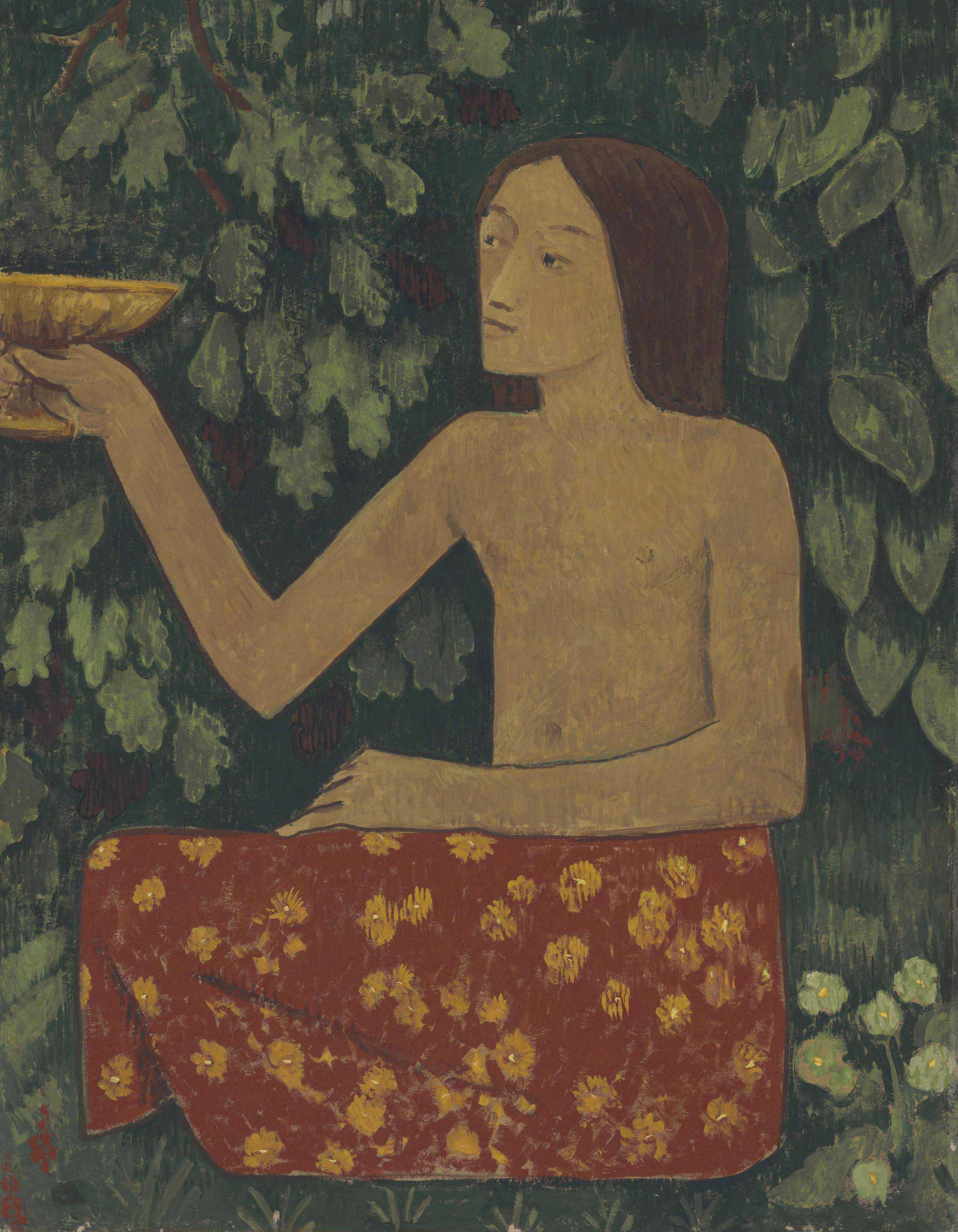 Jeune hiérophante tendant sa coupe