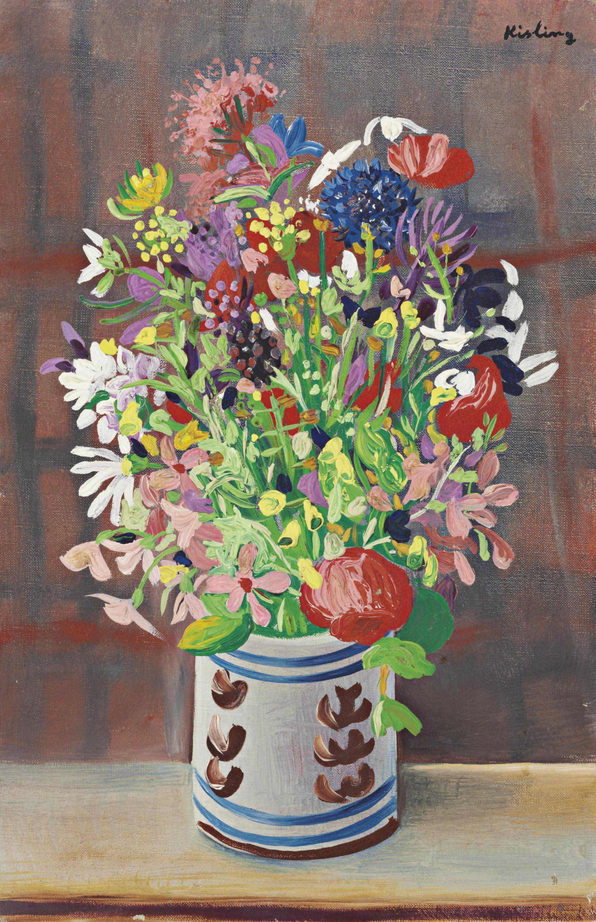 Moise kisling 1891 1953 bouquet de fleurs christie 39 s for Bouquet de fleurs 2016