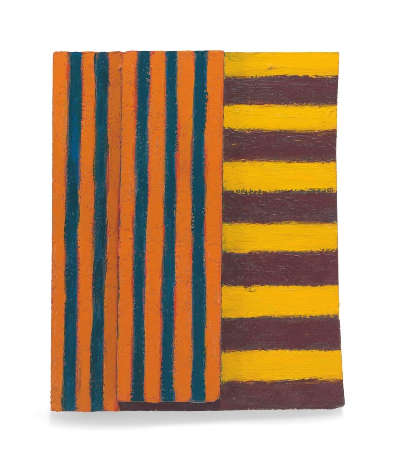 Sean Scully, Elder, 1982. Oil on panel. 17¾ x 14½ x 2¼  in (45 x 36.8 x 5.7  cm). Sold for $271,500 on 16 November 2016 at Christie's in New York. © Sean Scully
