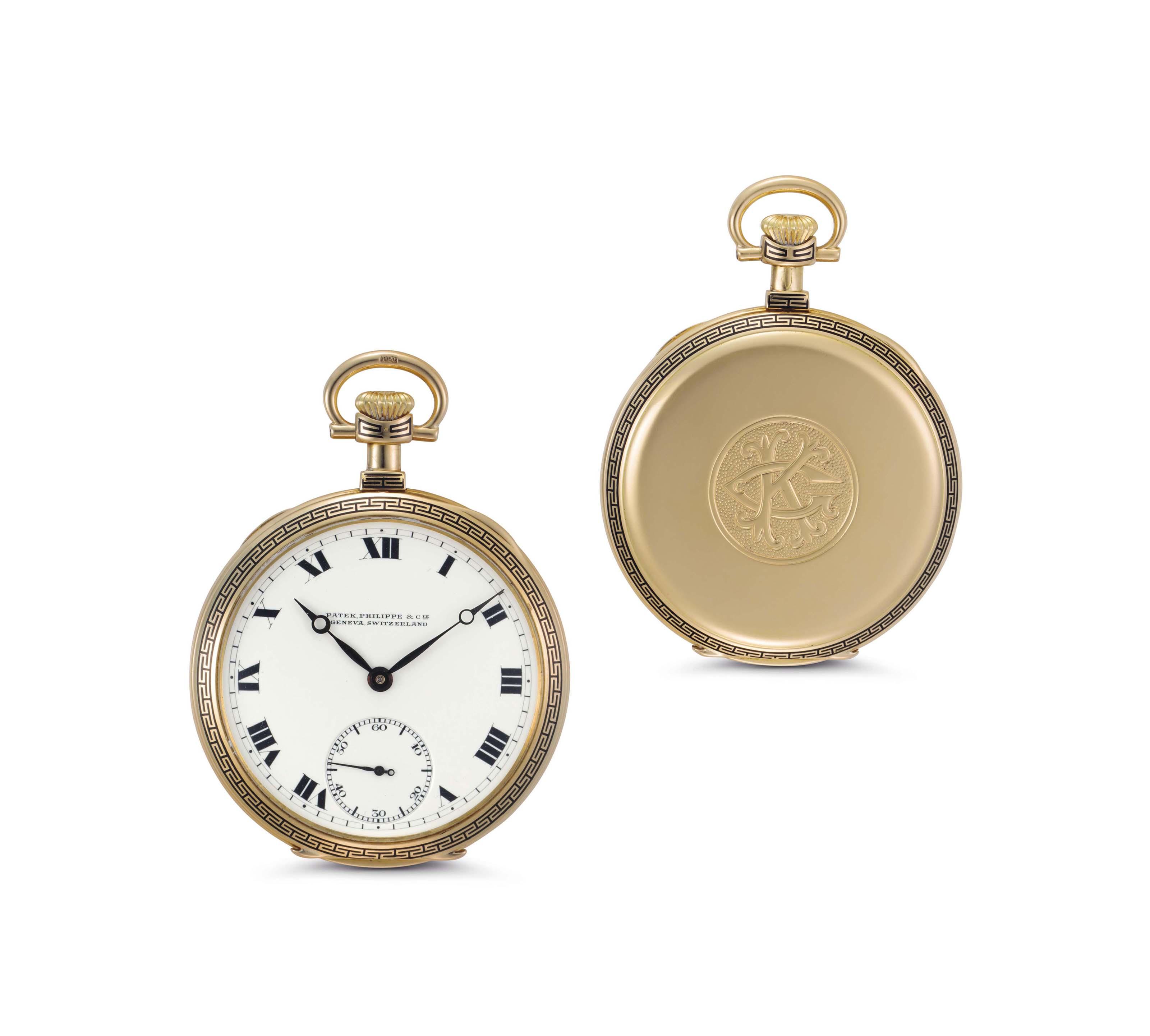 Patek Philippe. An 18k Gold Openface Pocket Watch