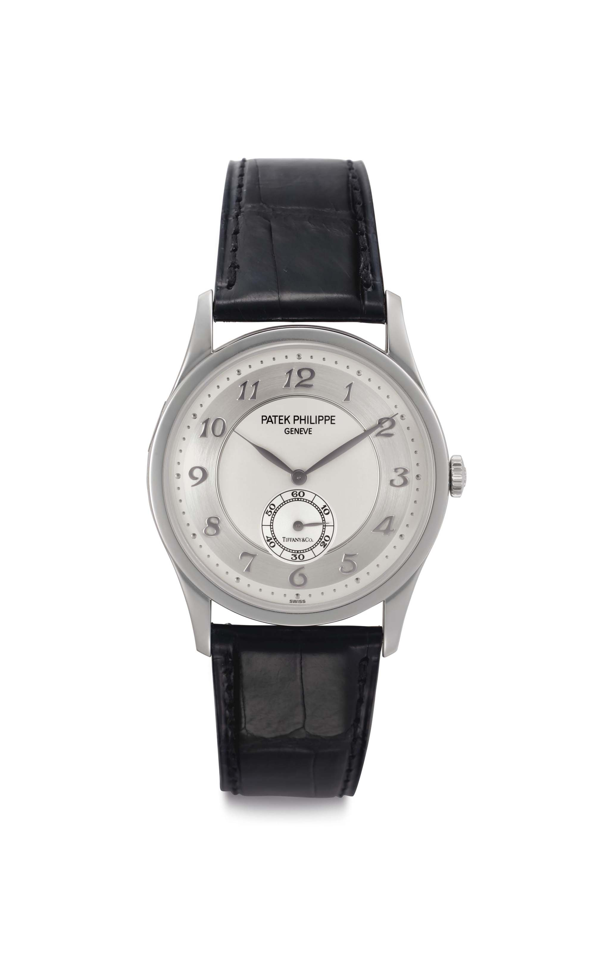 Patek Philippe A Platinum Wristwatch With Breguet Numerals And Two