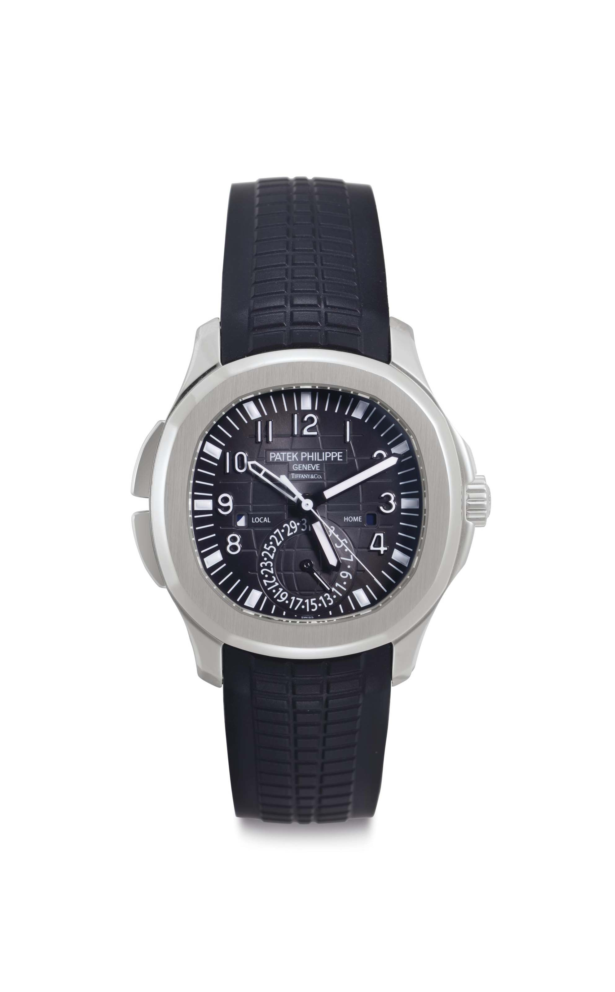 Patek philippe a stainless steel automatic dual time wristwatch with day night indication date for Patek philippe geneve