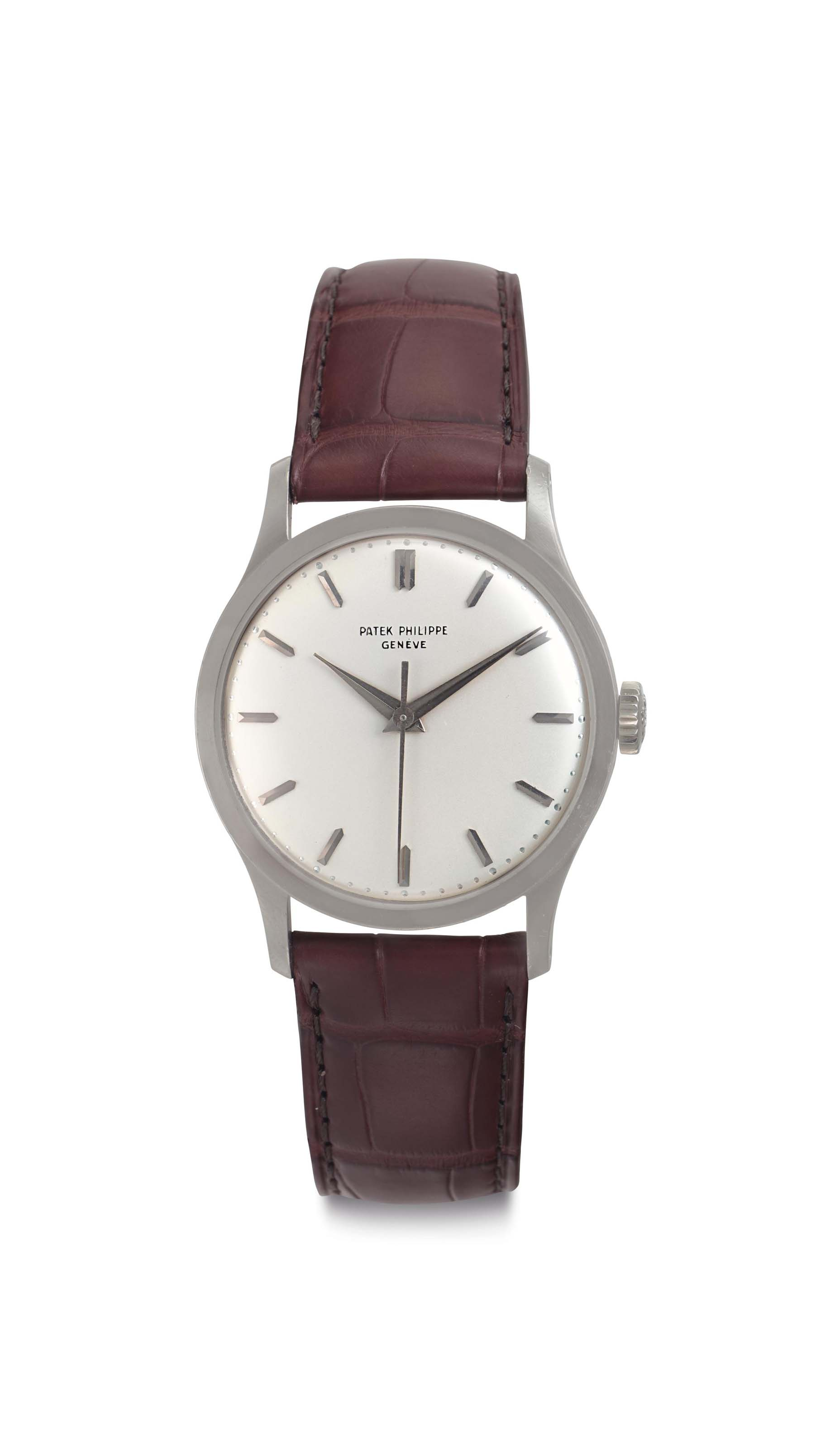 Patek Philippe. A Fine 18k White Gold Wristwatch with Center Seconds