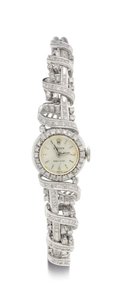 Rolex. A Lady's 18k White Gold