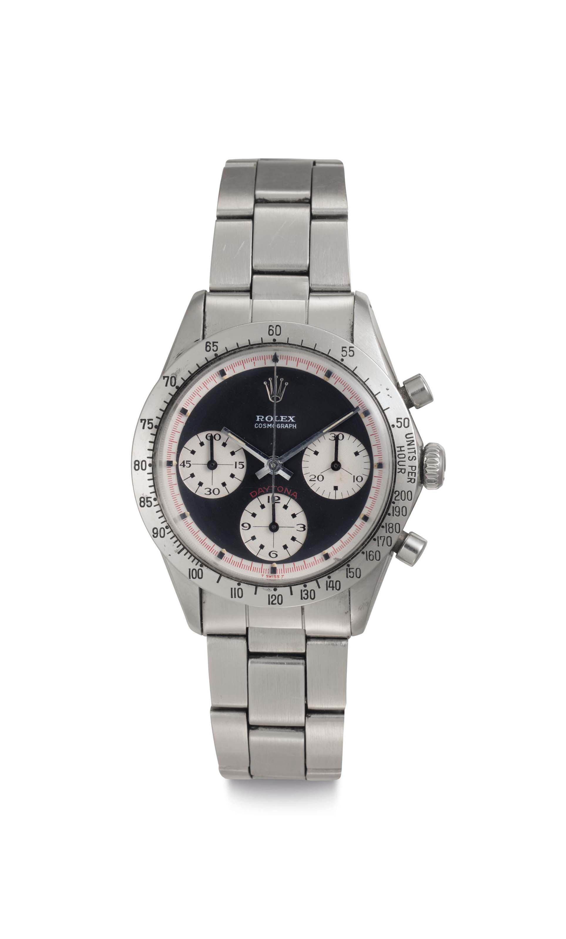 """Rolex. A Stainless Steel Chronograph Wristwatch with """"Paul Newman"""" Dial and Bracelet"""