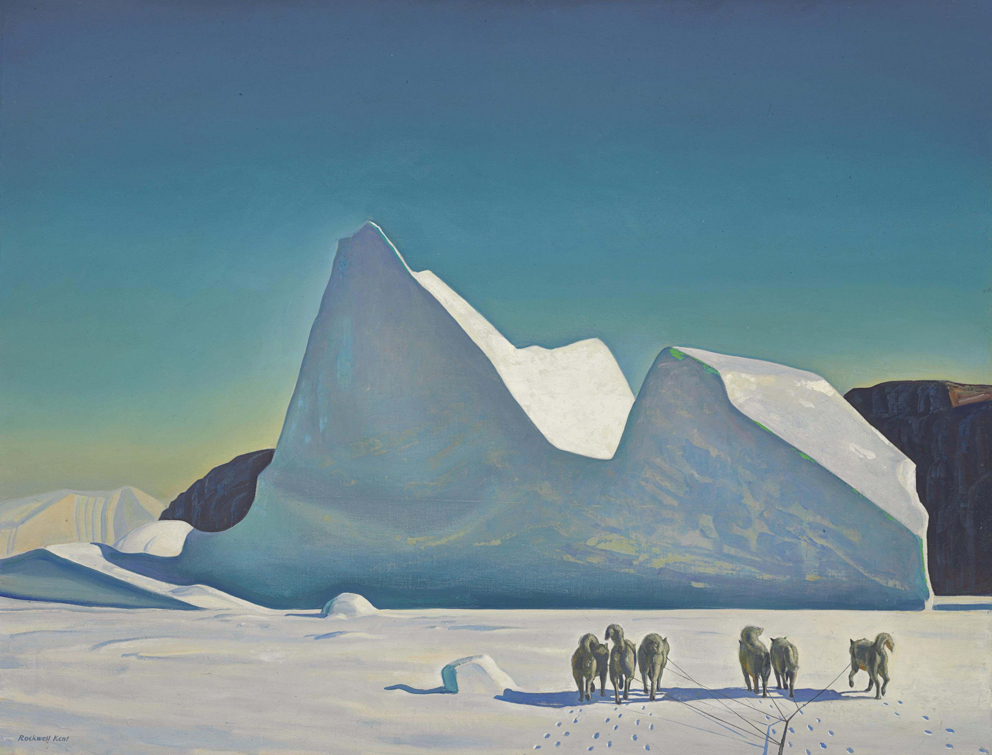 Iceberg; Sledge Dogs, Greenland