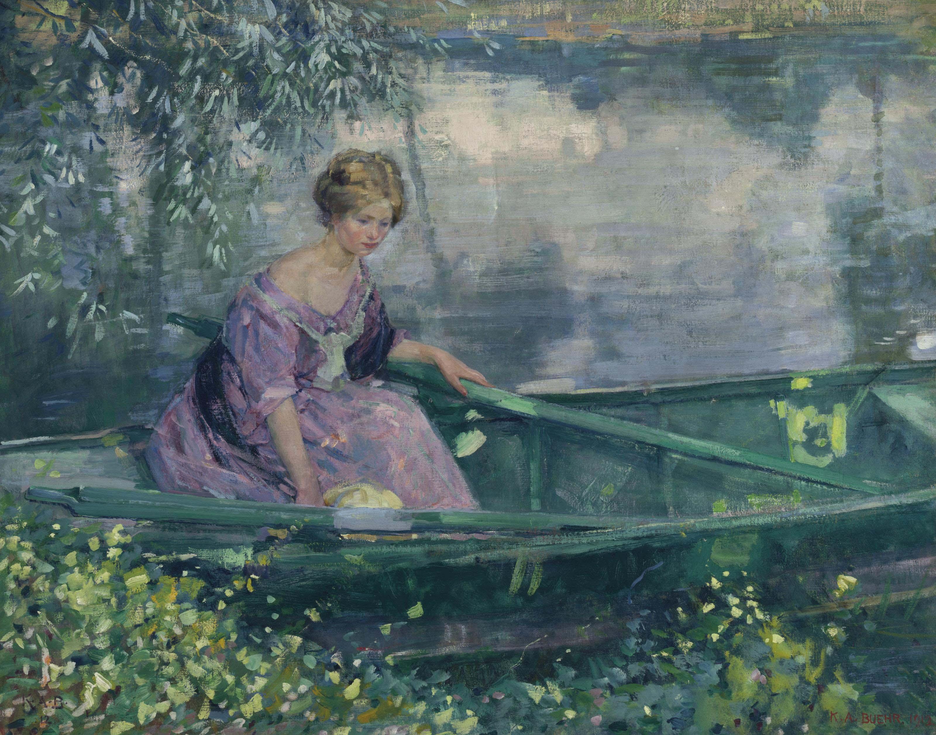 Jeune Fille dans une Barque