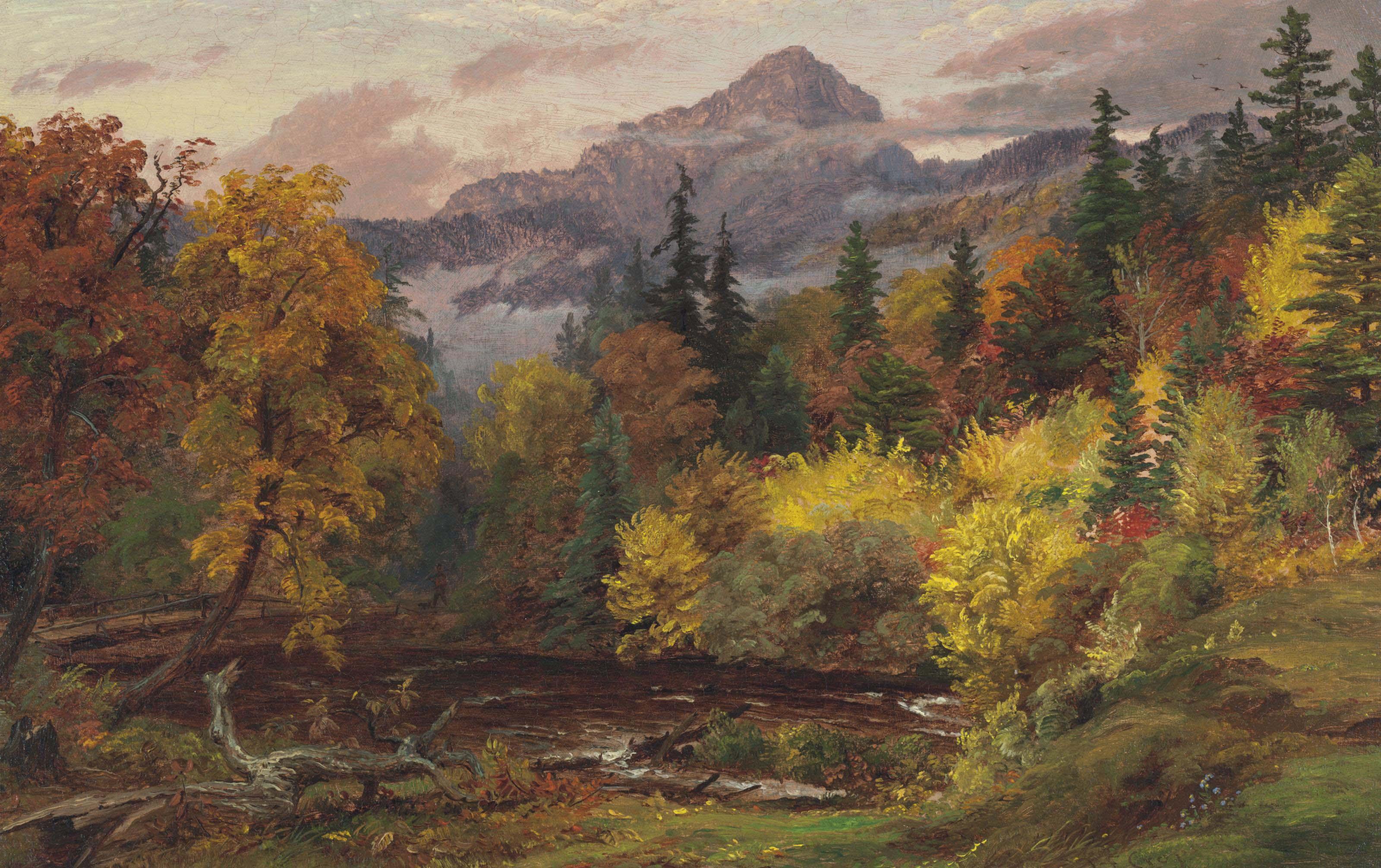 Autumn Foliage in the White Mountains (Mount Chocorua)