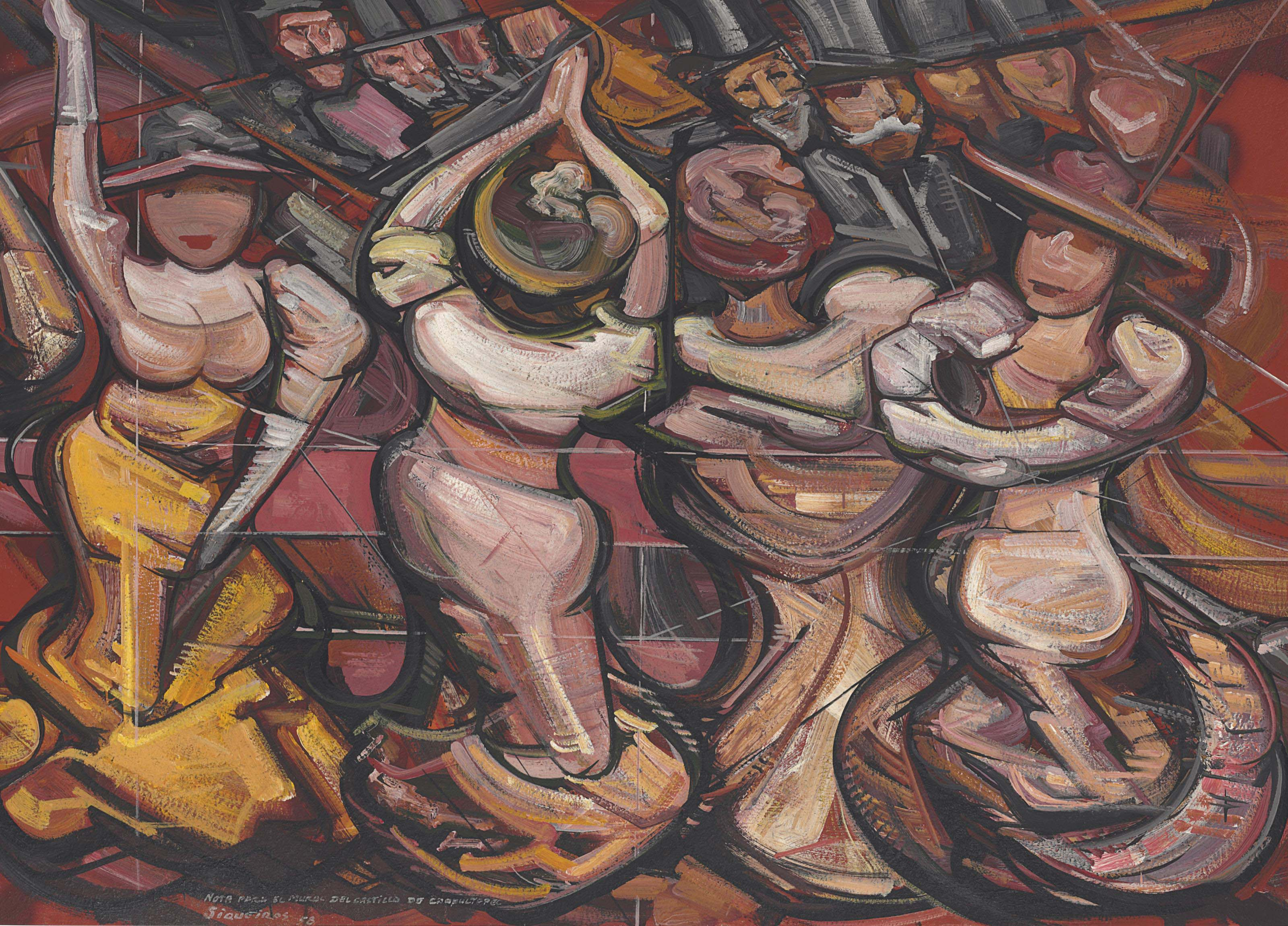 David Alfaro Siqueiros 1896 1974 La Conesa 1950s Paintings
