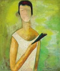 Mujer con abanico